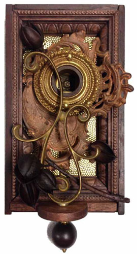 "Autumn  7""x14""x5""  Assemblage (tree branch, ink well, decorative brass, drawer pull, lamp part)"