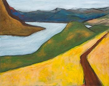 "Memory of Dog Mountain, 22""x28"", acrylic on canvas"