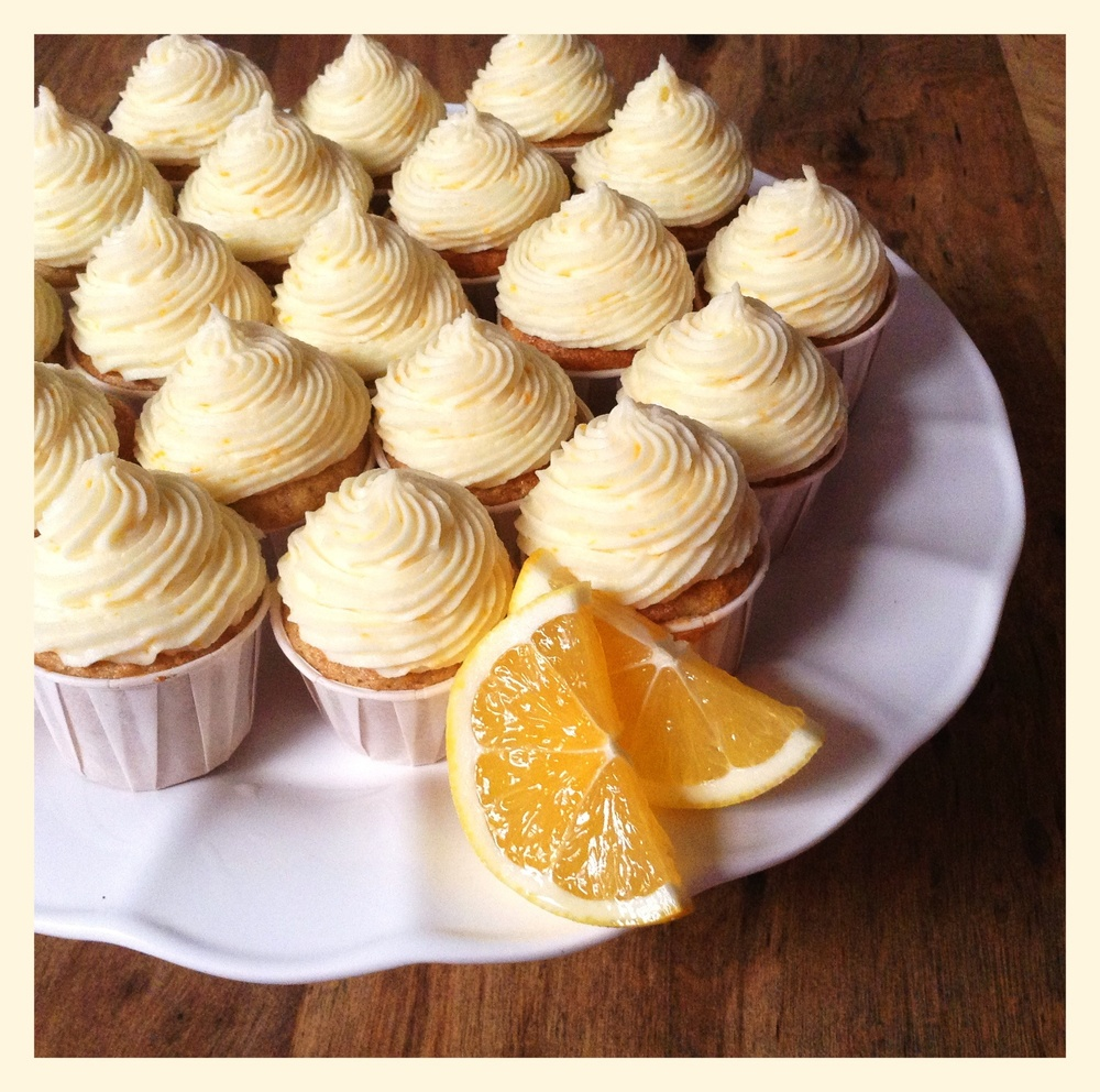 Meyer Lemon Gluten Free Mini Cupcakes