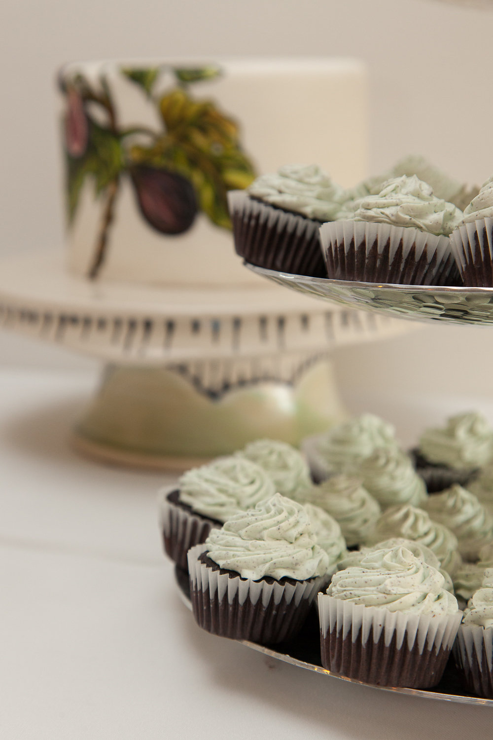 Mint Chocolate Mini Cupcakes