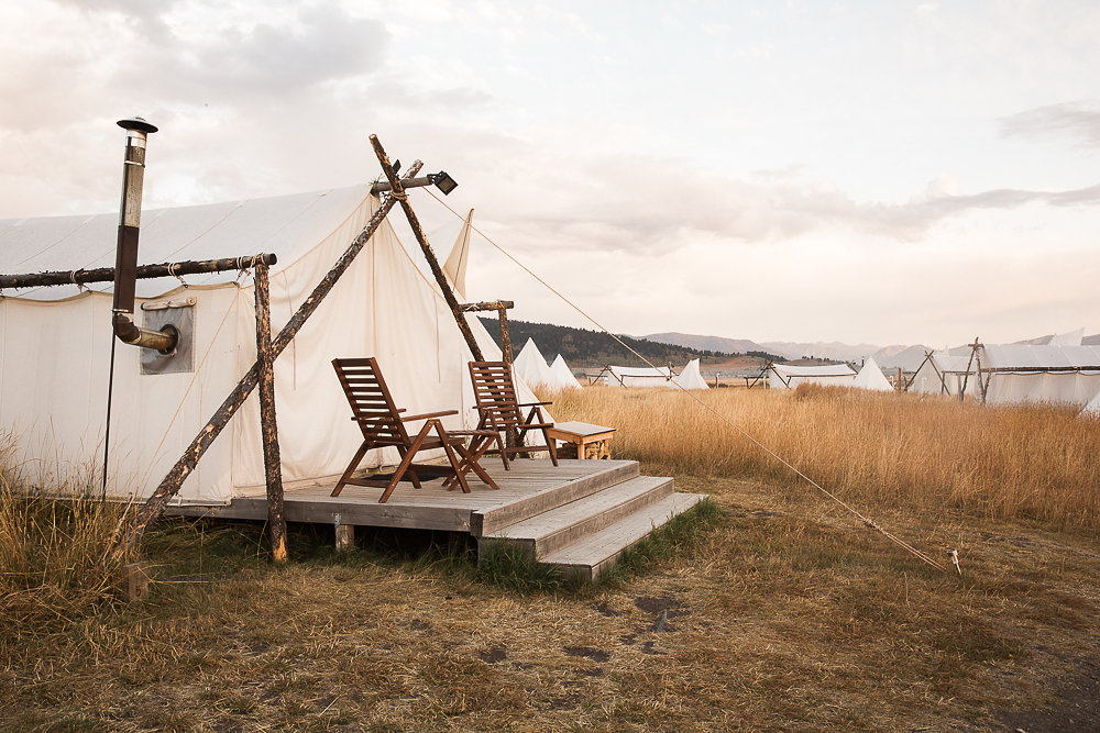Montana Under Canvas provides a gorgeous galloping retreat for weddings in Montana.