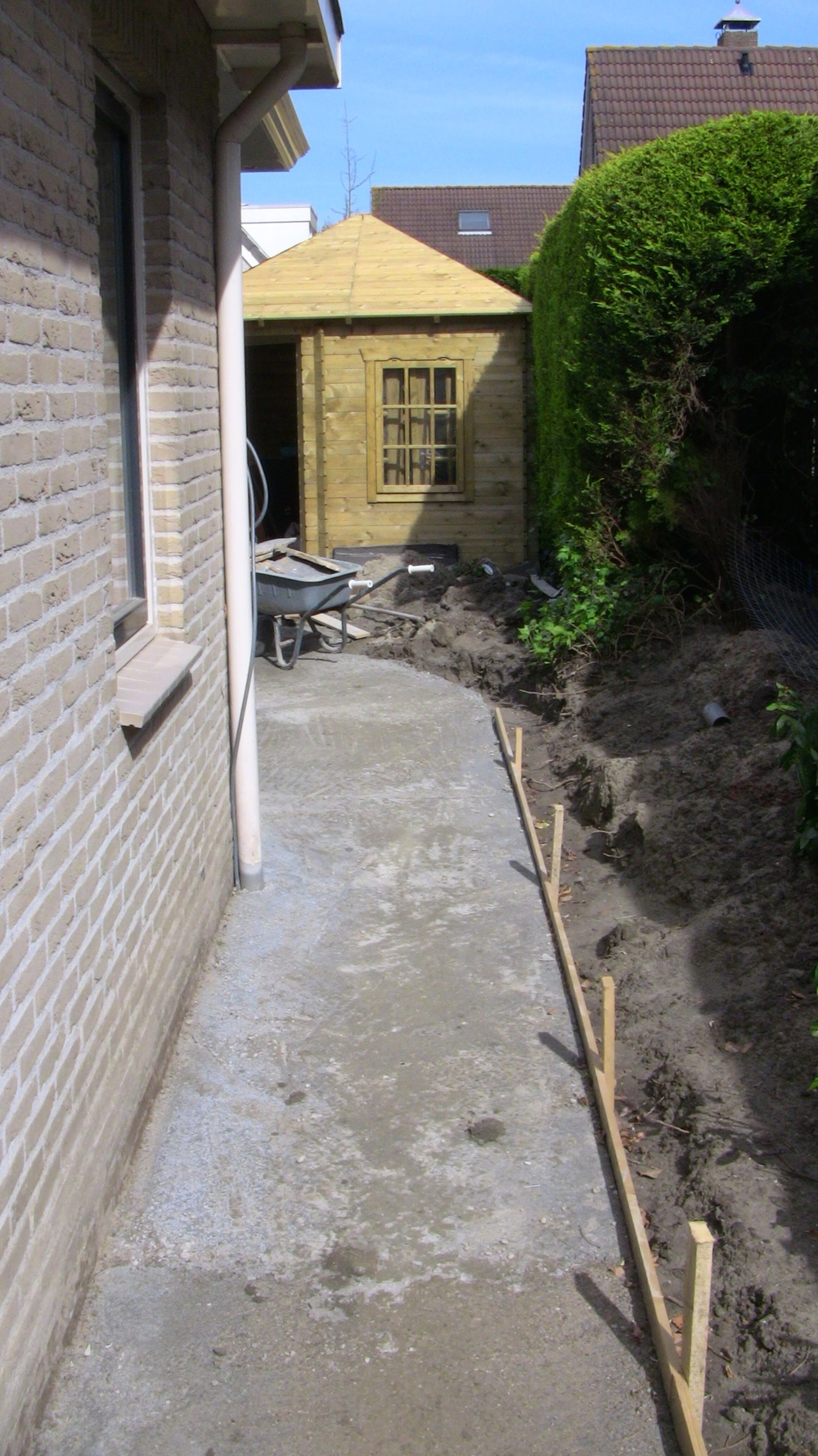 Ondervloer beton + bekisting