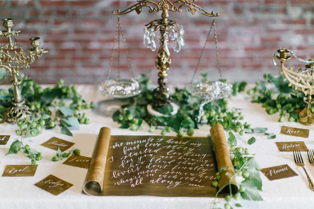 gold-and-green-gorgeous-wedding-calligraphy-3