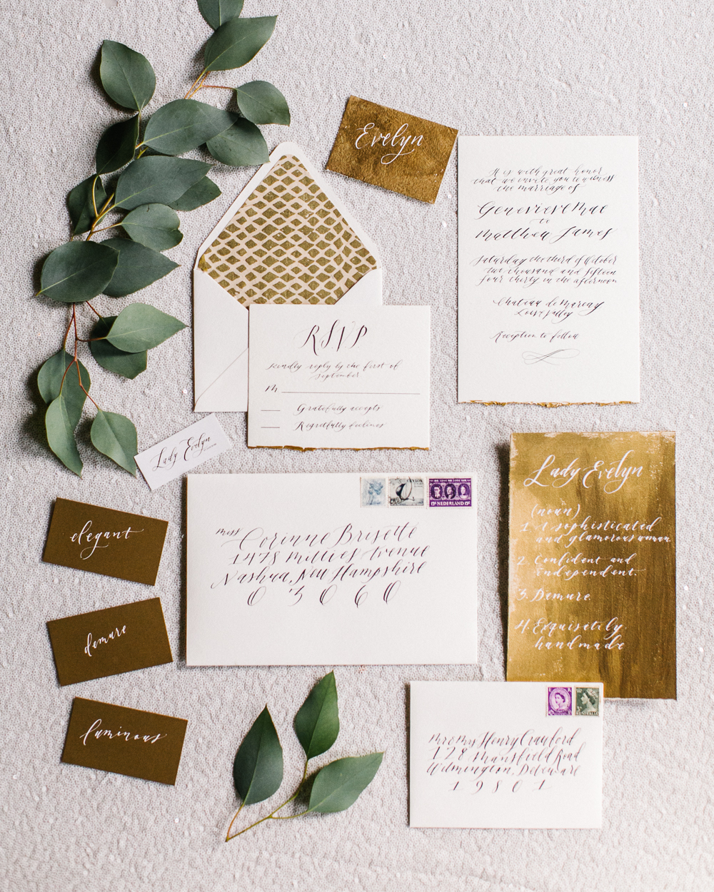 gold-and-green-gorgeous-wedding-calligraphy-13