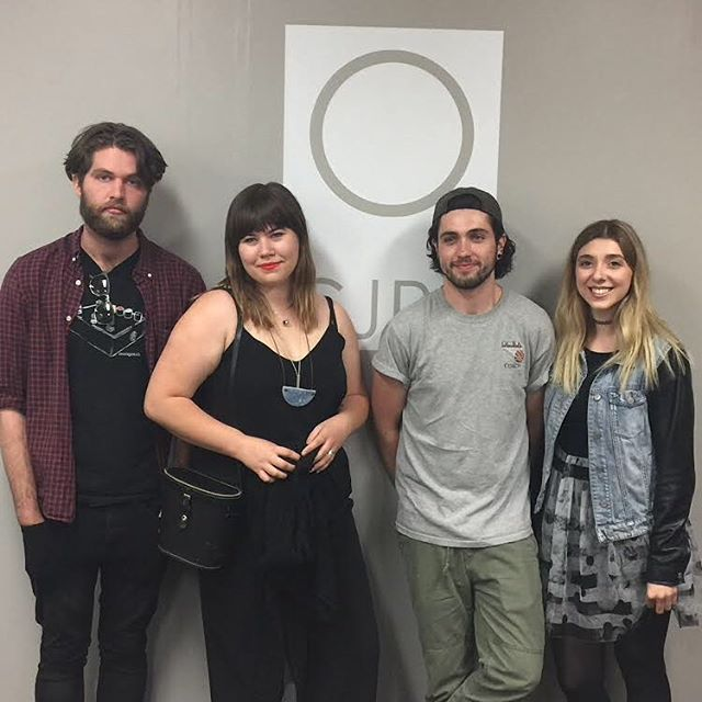 Thanks @ryerson_u for having us in today to talk about our show at the @horseshoetavern ! Tune in tomorrow to hear the juicy details, two days away @mothertonguesband @thebandluma @vistas.music @campgirlsband