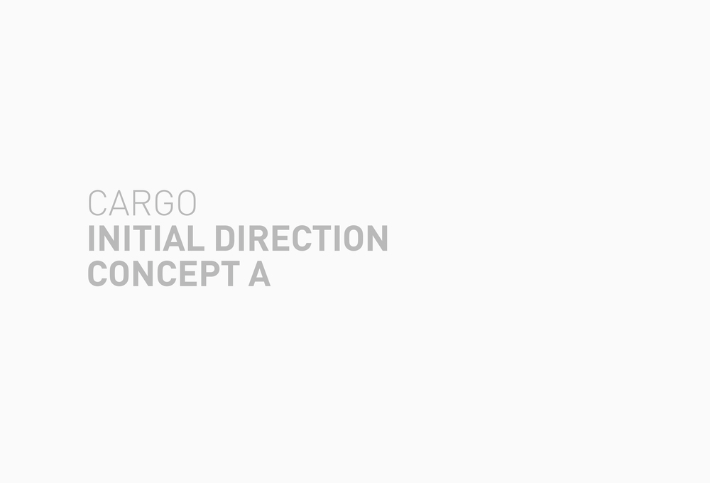 Following are four directions for Cargo's new look. Each with subtle, yet defining differences, designed to reach Cargo's intended audience. The final Cargo rebrand is the love child of these initial concept directions.