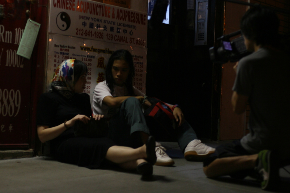 "2008 -   a production still of Claro's short film ""Konstruksiyon"". Screened at the Chicago Filipino Film Festival 2008"