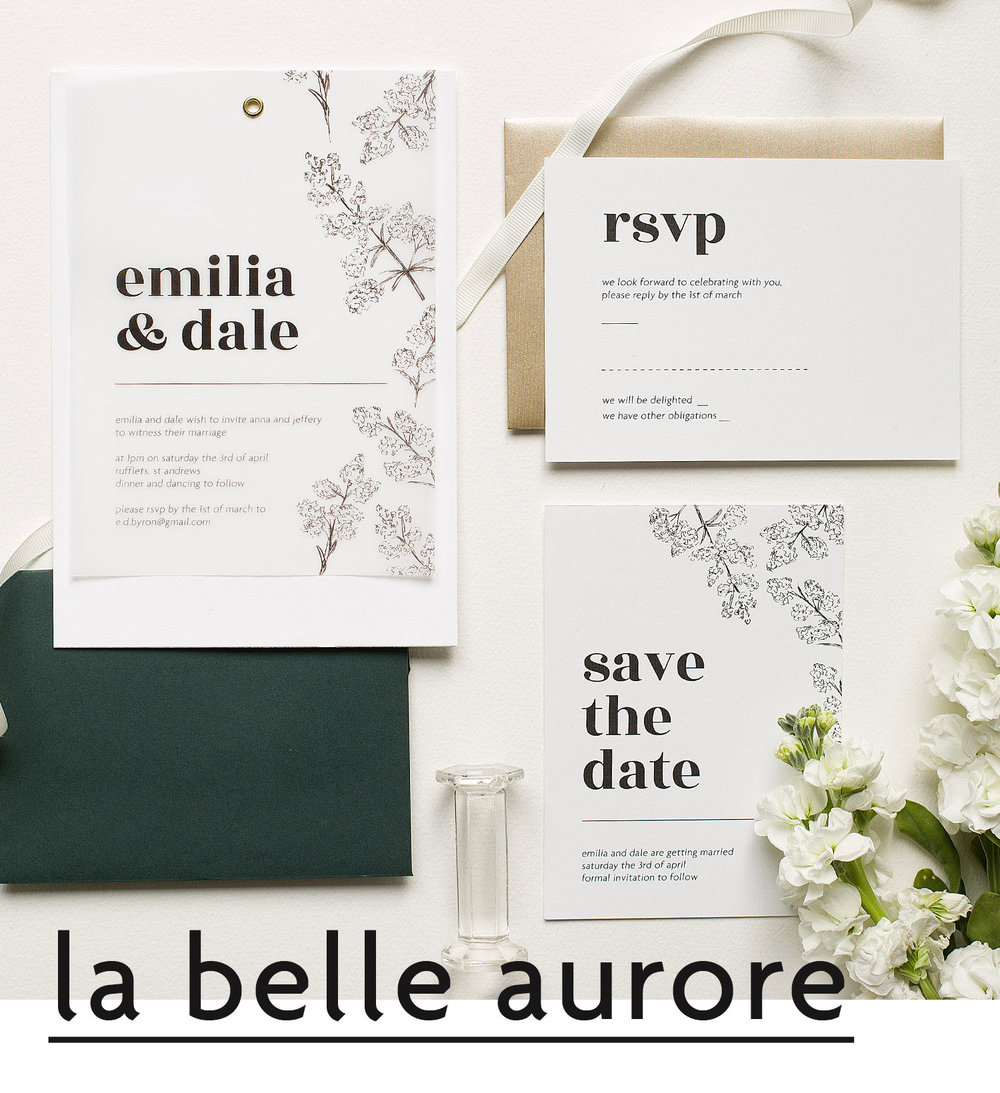 Wedding suites starting with a colour palette we can pick paper envelopes liners ribbon wax seals calligraphy letterpress and so much more to make your invitations stopboris Image collections