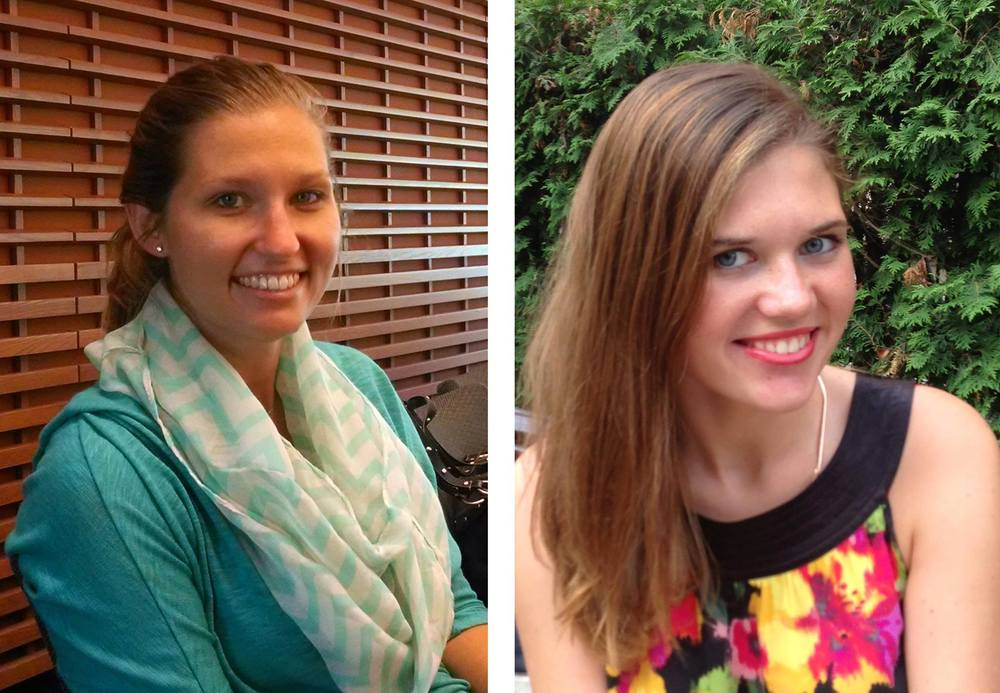 Wynn Tanner (left) had a conversation with Anya Shkurko (right) at Stanford University this summer.