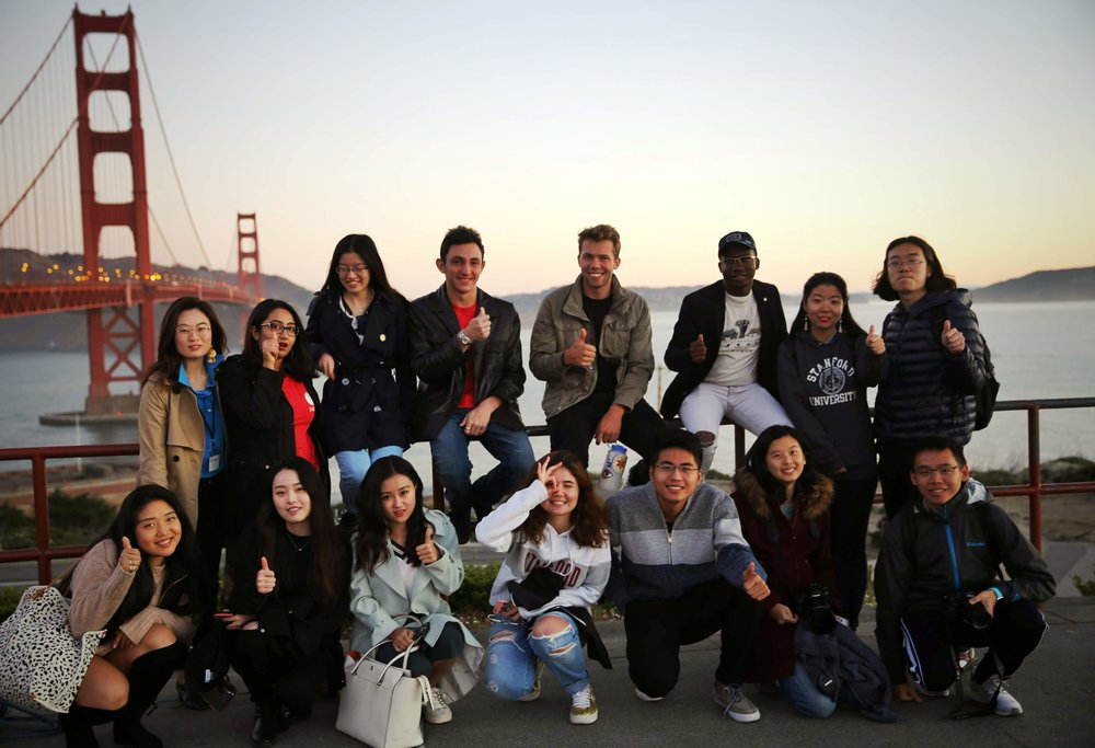 FACES delegates from around the globe pose for a candid photo at the Golden Gate Bridge after an Summit filled with intellectual, academic, and interpersonal exchange.