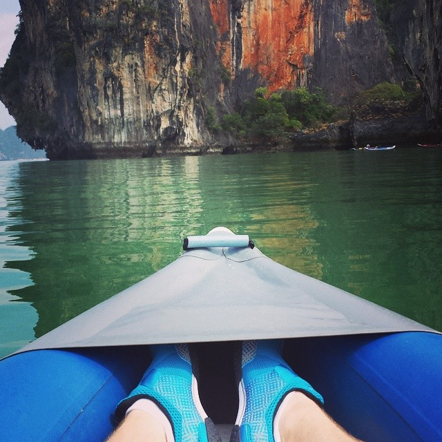 Island hopping in Phuket, Thailand.