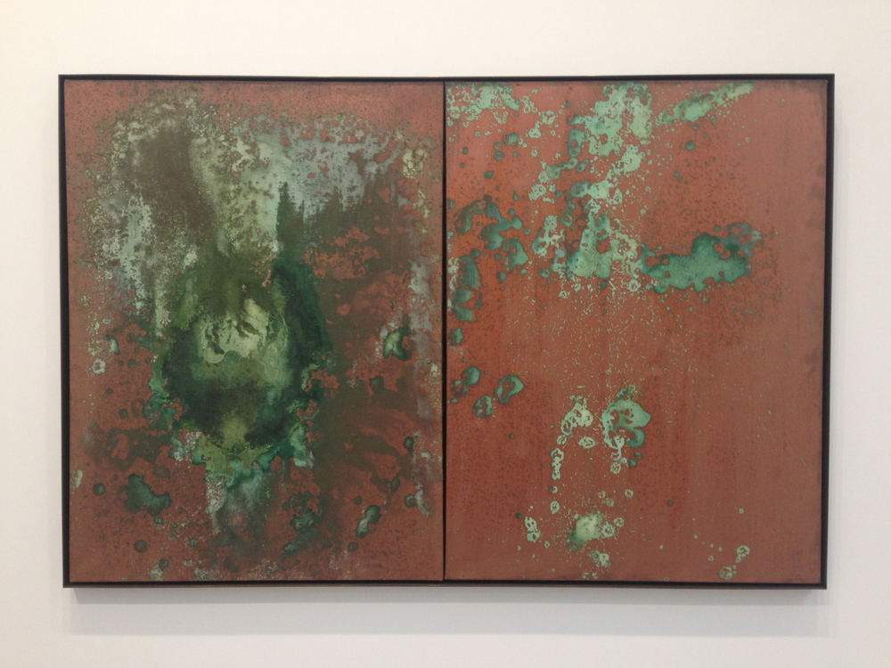 Andy Warhol - 'Oxidation Painting (Diptych)' (1978)