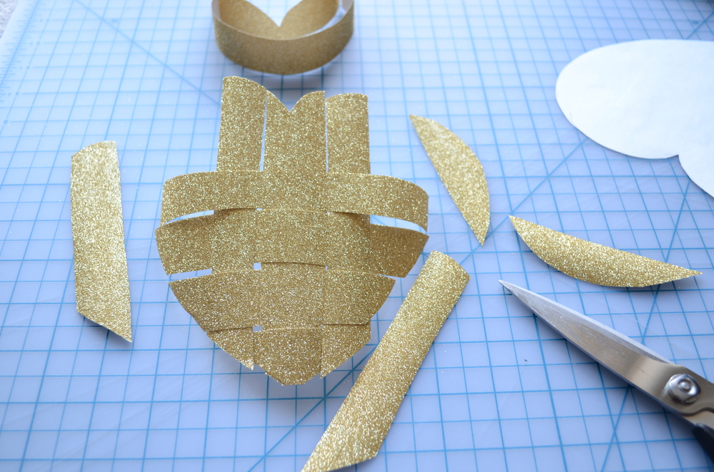 Warp or Weft: DIY Craft Valentine's Day Heart woven from paper / how to