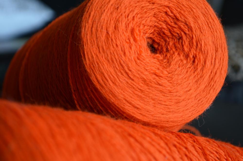 Globe Dye Works history of yarn / orange love / warp or weft / warporweft.com