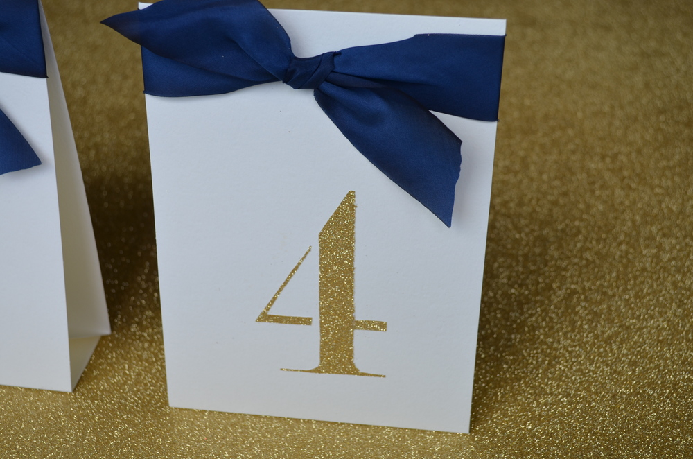 DIY table numbers / wedding / warporweft.com