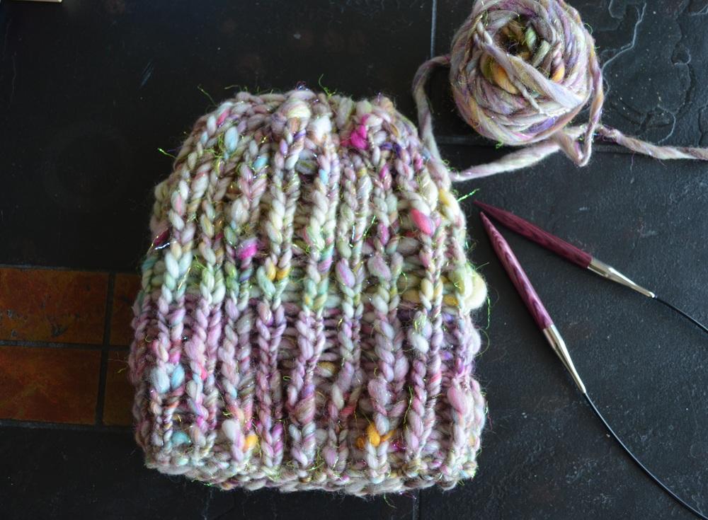 knit collage ribbed hat / warporweft.com