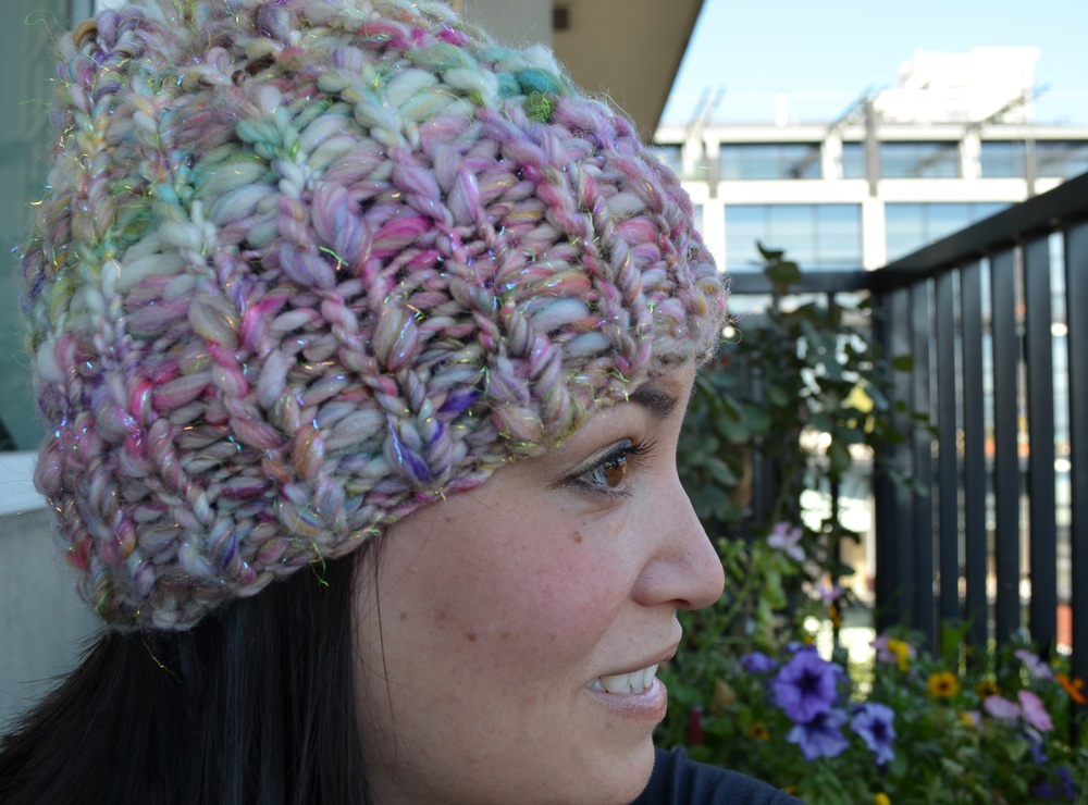 easy knit ribbed hat / warporweft.com