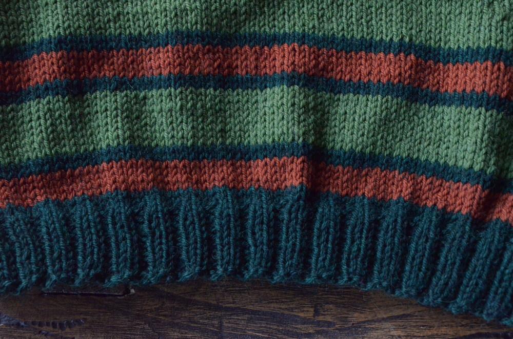 Striped knitting / warporweft.com