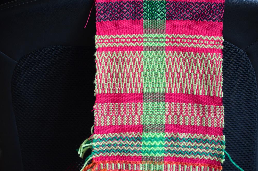 Swedish Rosepath weaving sample / warporweft.com