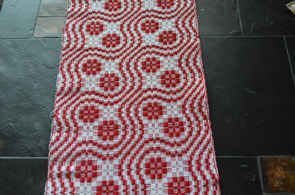 Overshot snail trail and cats paw handwoven / warporweft.com