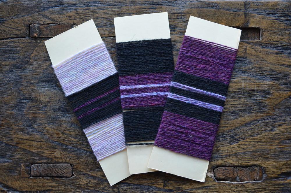 yarn wraps for color test / warporweft.com