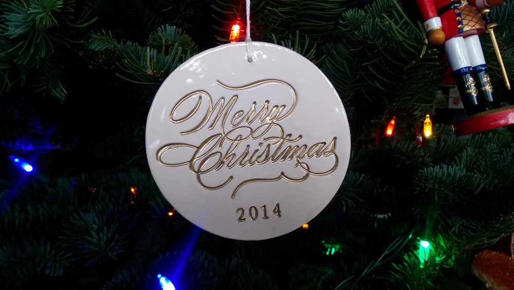 Merry Christmas ornament / warporweft.com