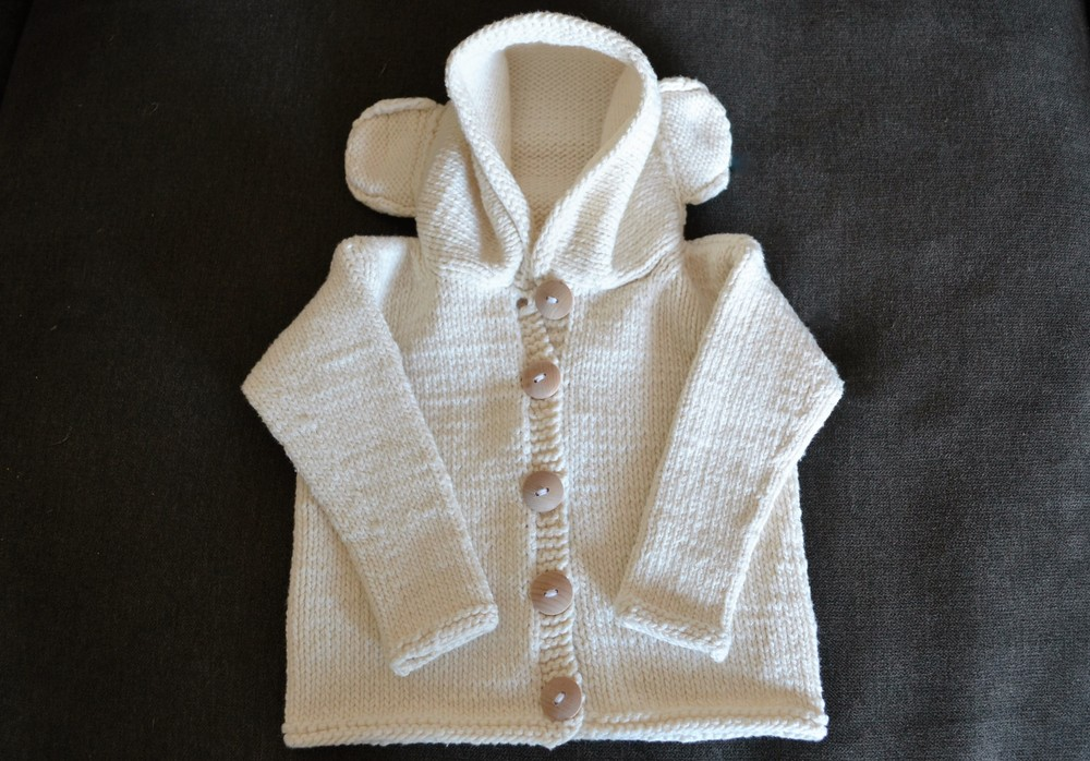 Baby Bear Knit Sweater / warporweft.com