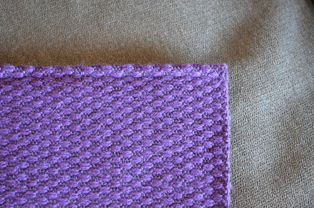 French Seam on Cashmere Handwoven Scarf / warporweft.com