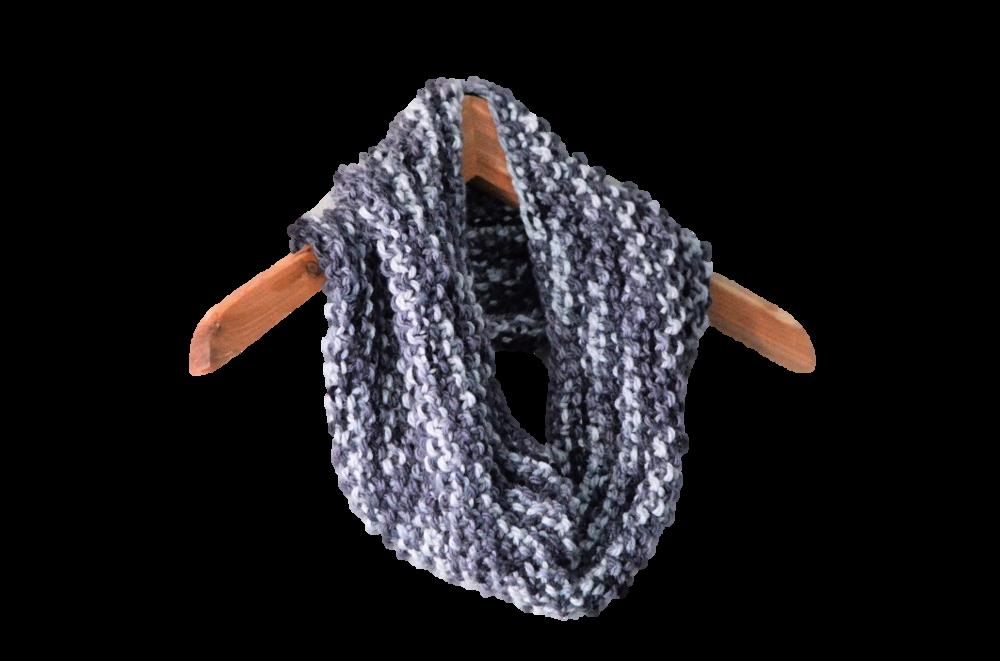 Easy One Skein Cowl Scarf Knitting Pattern / warporweft.com
