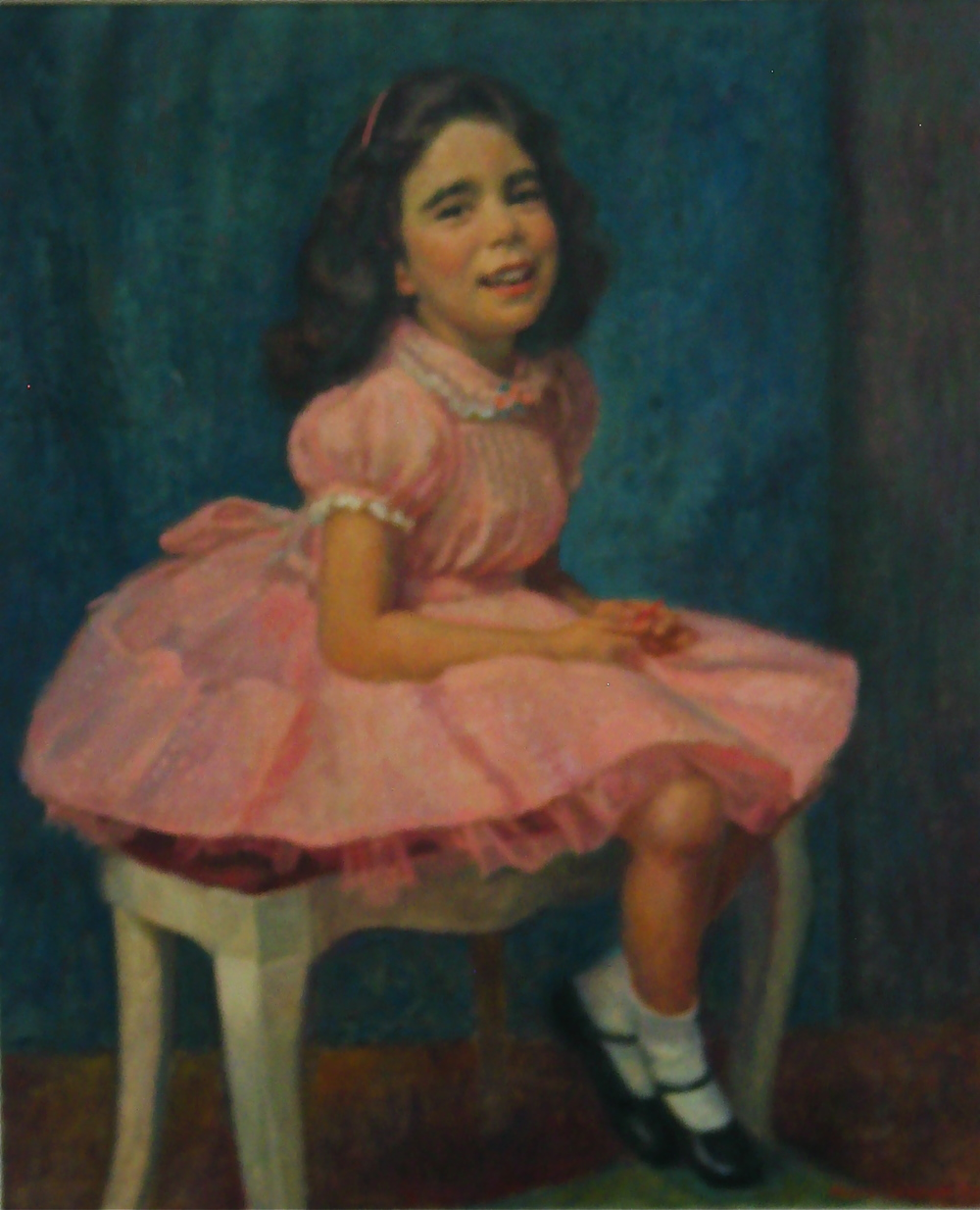 Untiled girl in pink dress