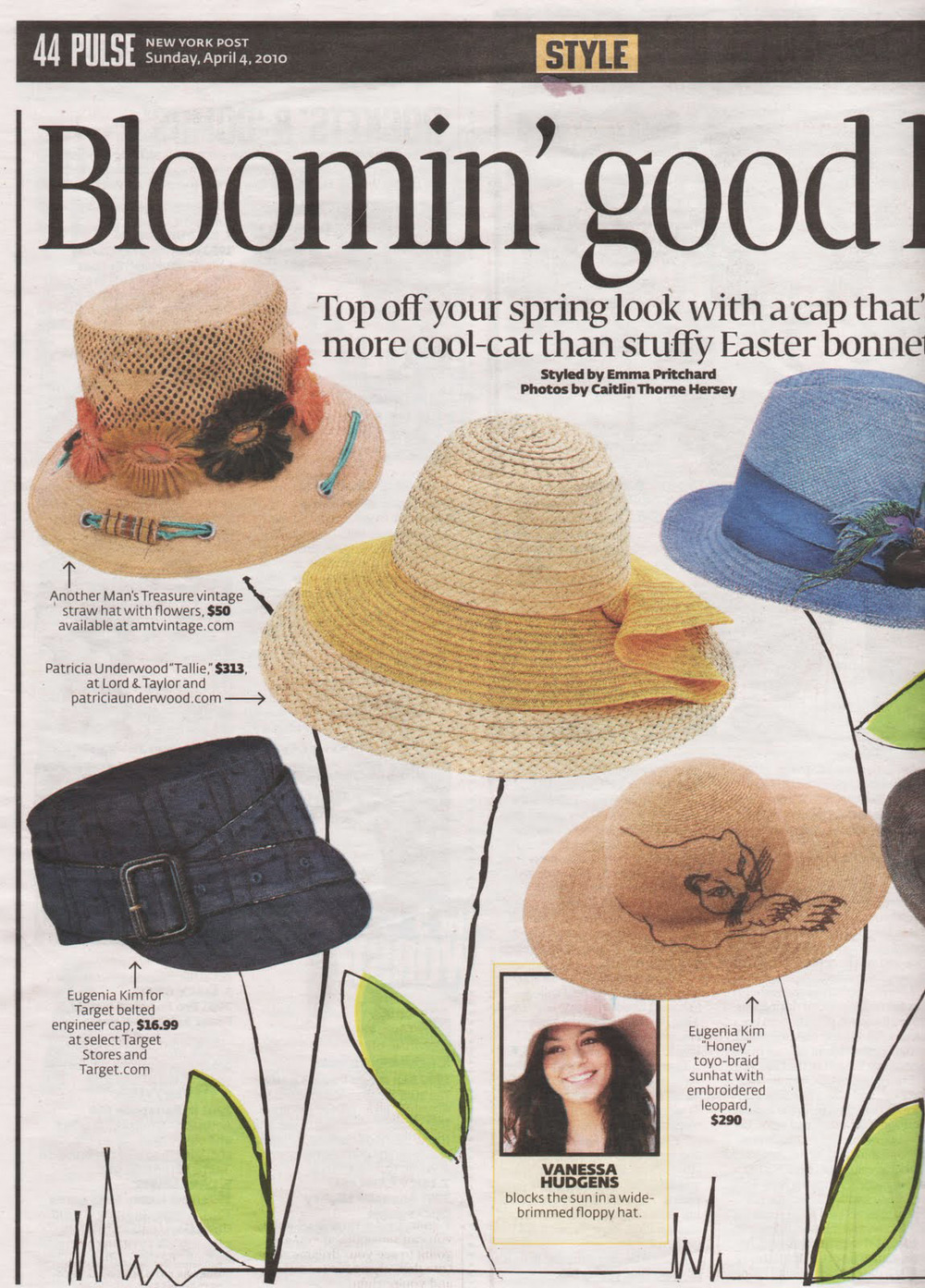 New York Post Straw Hat - April 2010