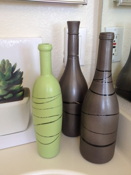 #2 Painted Wine Bottles