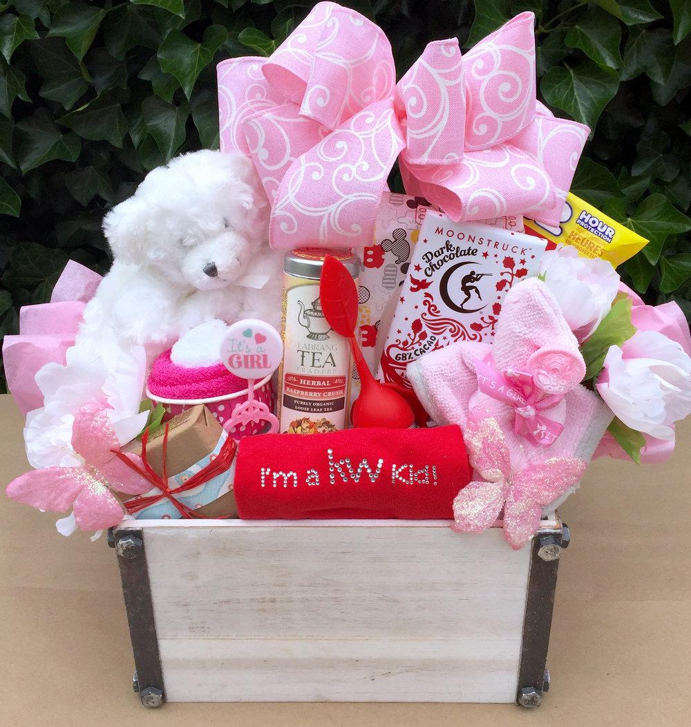 Custom New Baby Girl Realtor Gift Basket