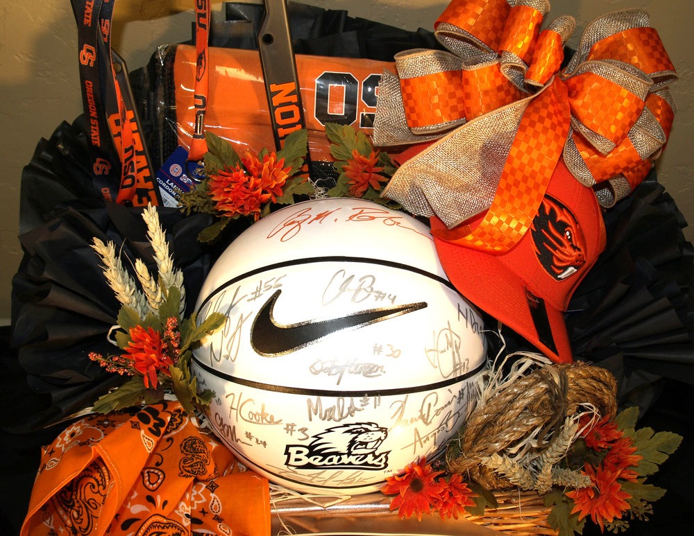 Sports Themed Gift Basket