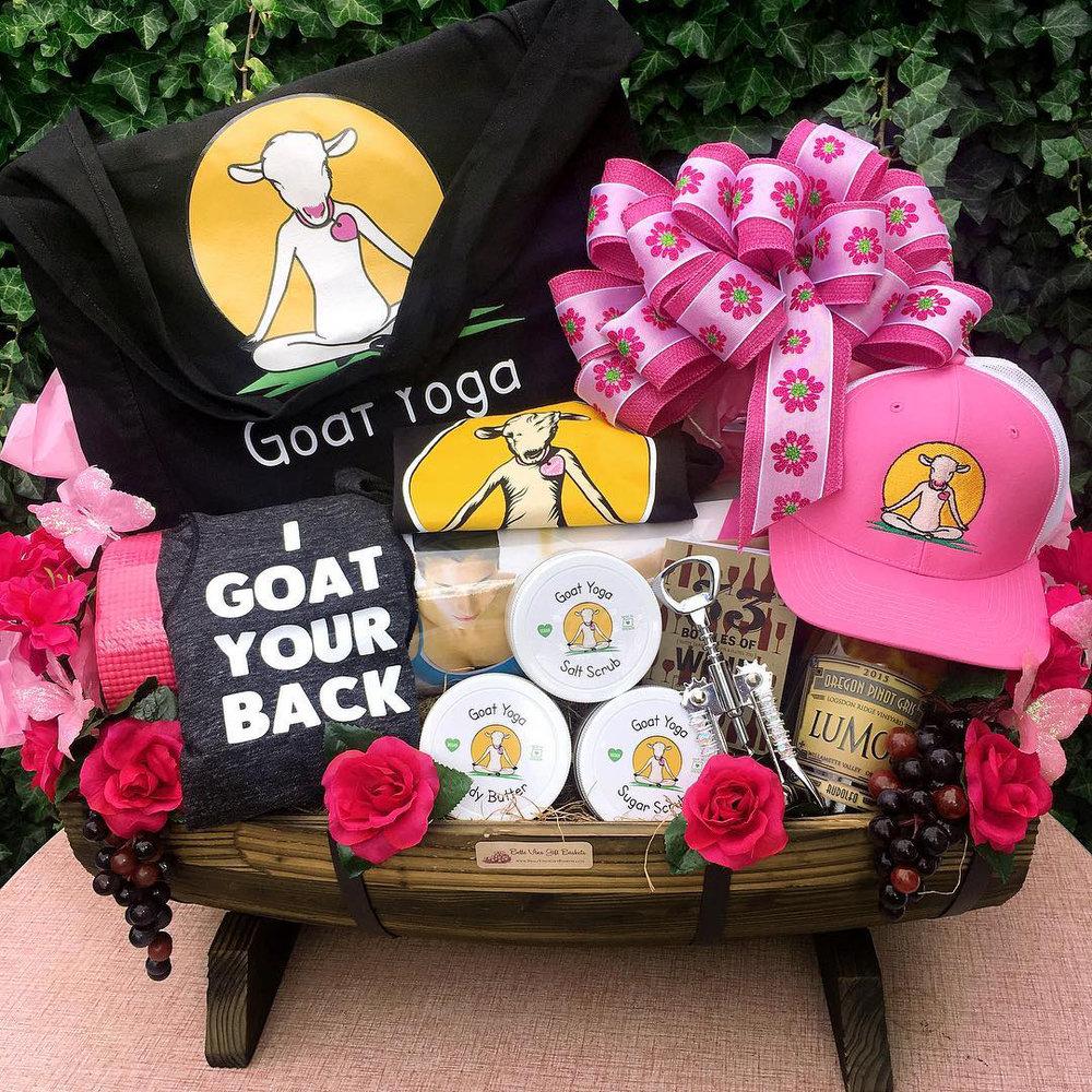 Goat Yoga Gift Basket