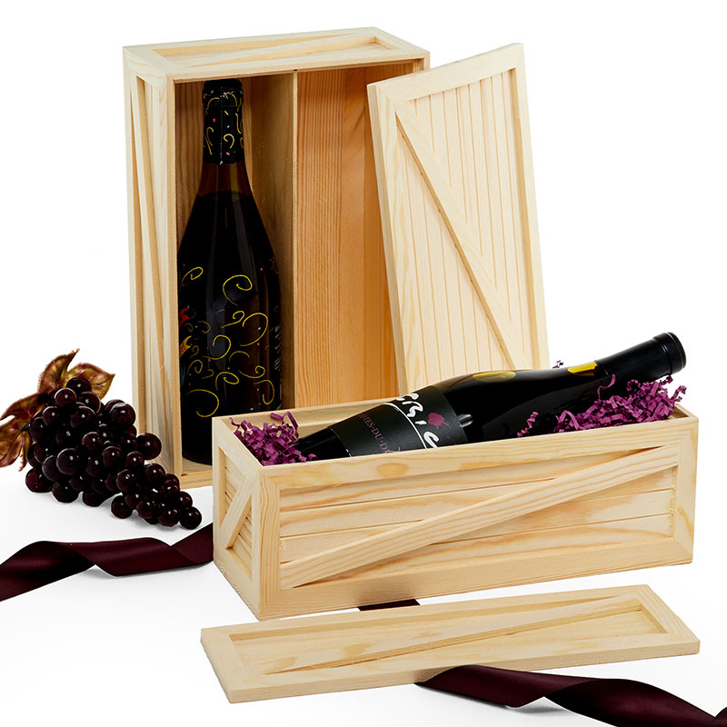 wood wine crate