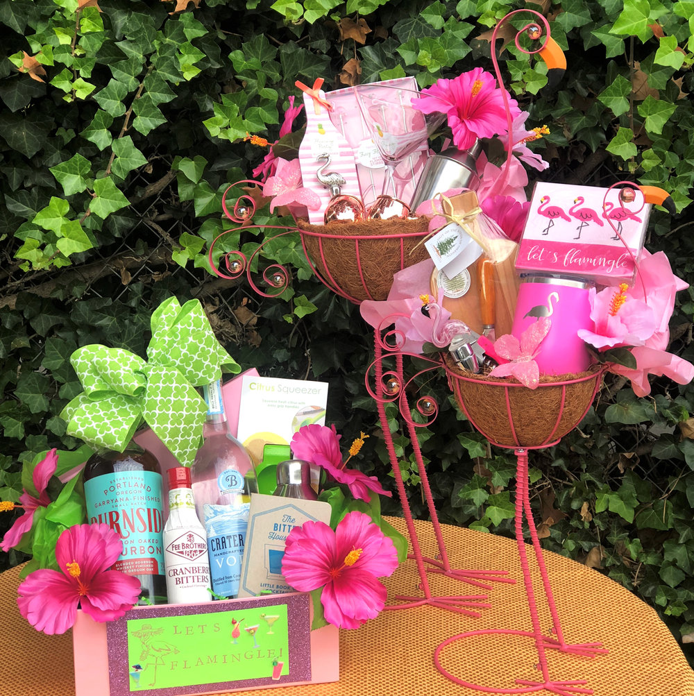Let's Flamingle Gift Basket