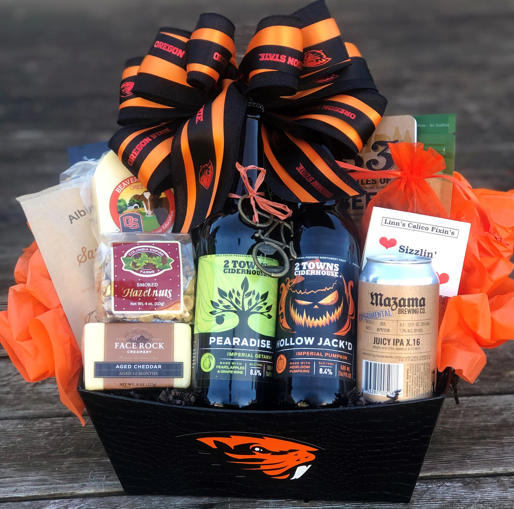 Custom Oregon State Gift Basket