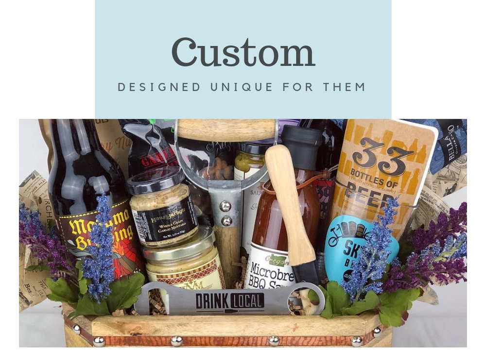 Design 100% unique gift basket or box