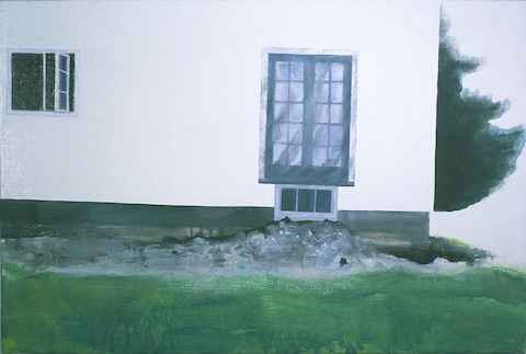'Exterior', oil on linen over panel, part of 'Subject/Index' conceived and curated by Cindy Loehr at The Pond, Chicago c. 2004