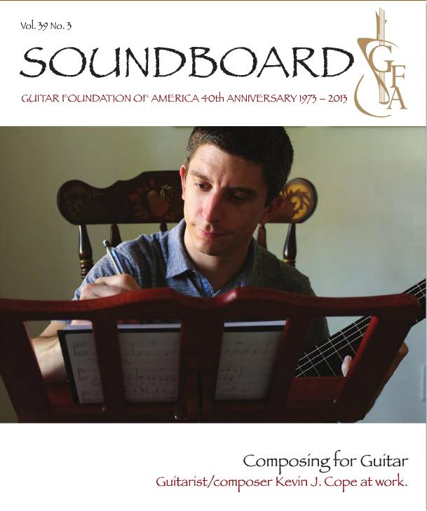 SOUNDBOARD Magazine, fall 2013