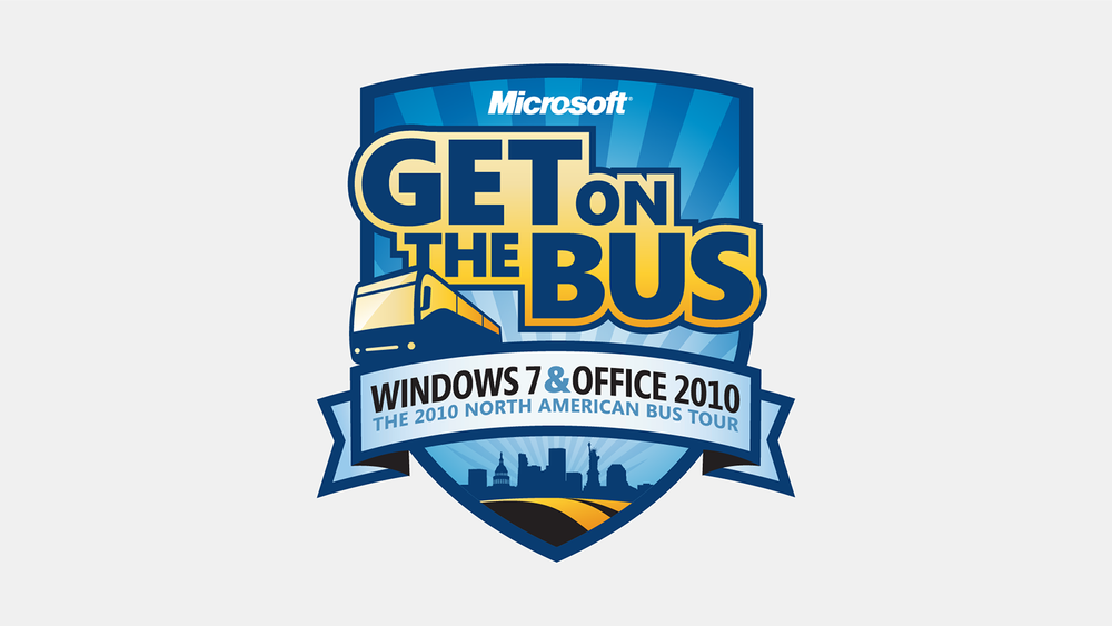 To advertise the launch of Microsoft Windows 7 and Microsoft Office 2010, we created a campaign around the bus tour.