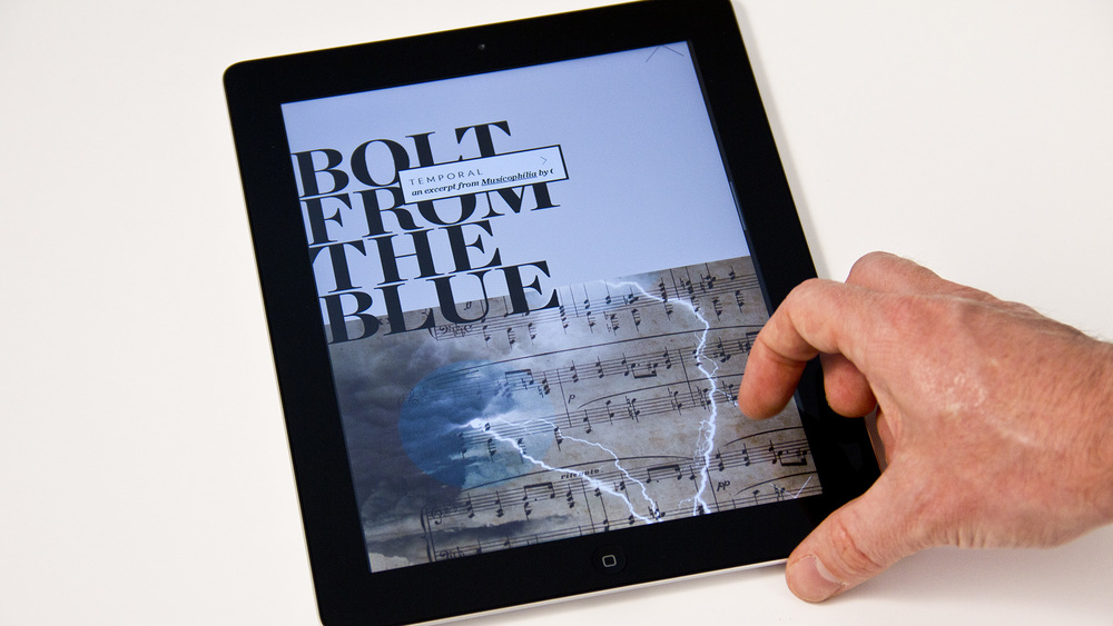 The digital version of the publication added hidden touch and swipe gestures to allow for more engagement with the content.