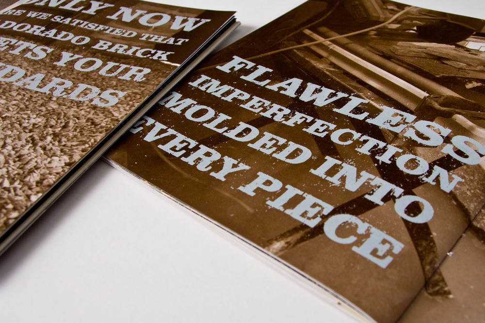 The distressed typography was created by hand to again illustrate the texture of the product.