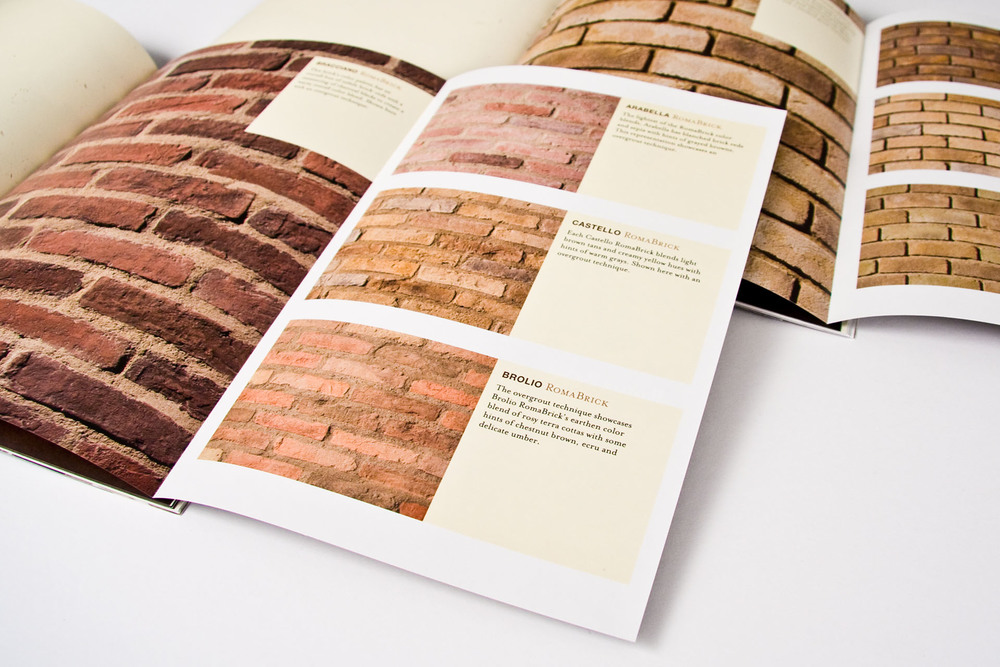 Three-quarter pages revealed the brick profiles, each named for specific region of origin.