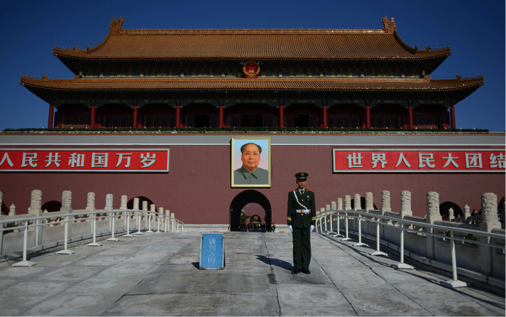 Tiananmen Gate with Portrait of Chairman Mao   http://america.aljazeera.com/content/dam/ajam/images/articles/tiananmen_square_gaurd.jpg