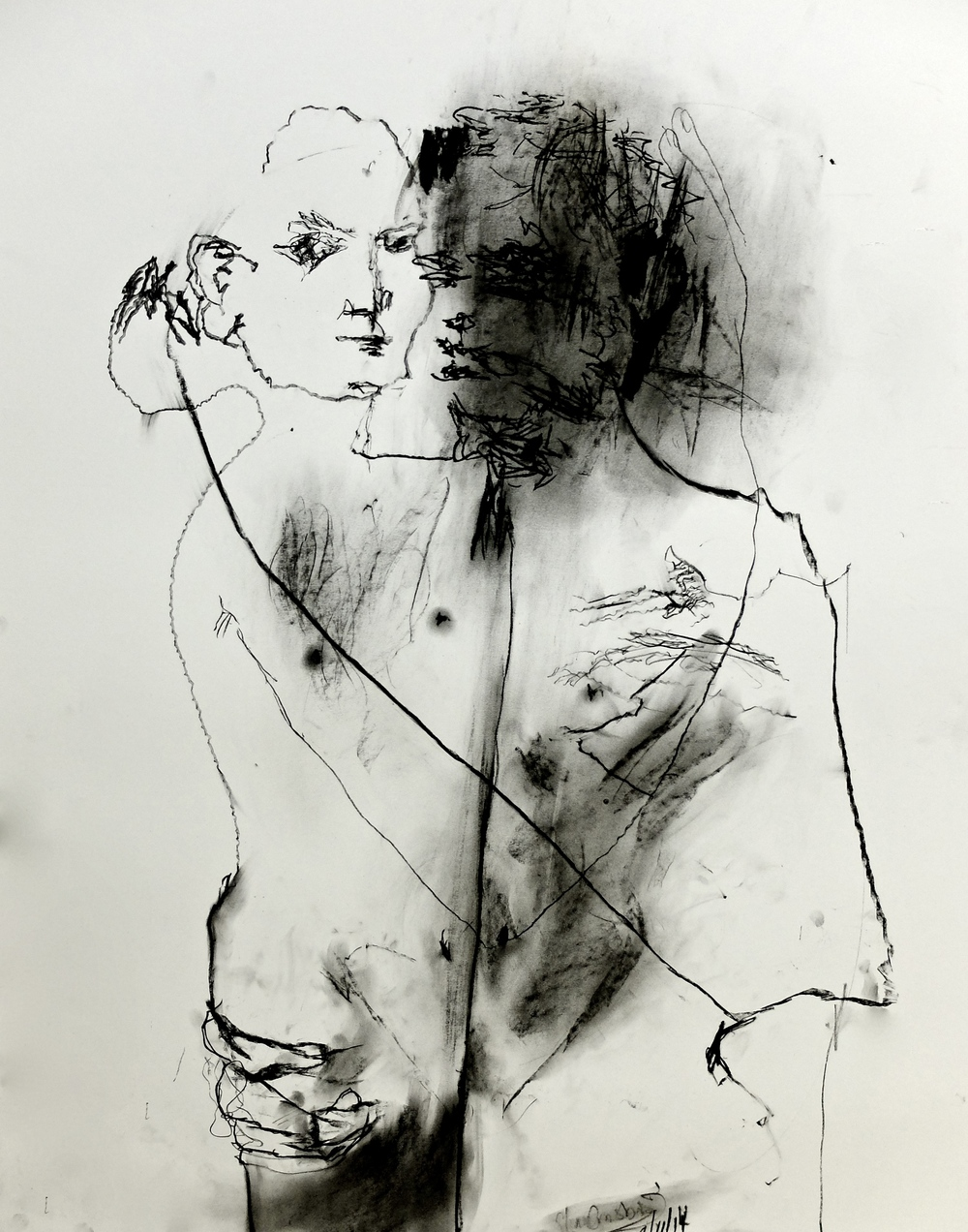 Shan and Joss,   2014, Charcoal on Paper