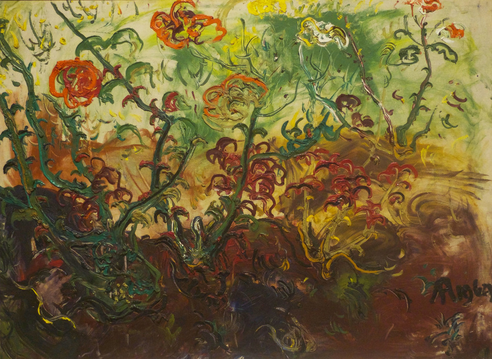 Affandi, Untitled [Flowers], 1964, oil on canvas, ANU Collection