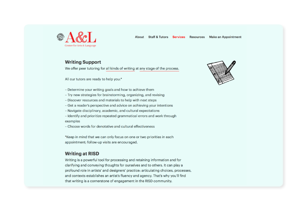 A&L – Writing Support