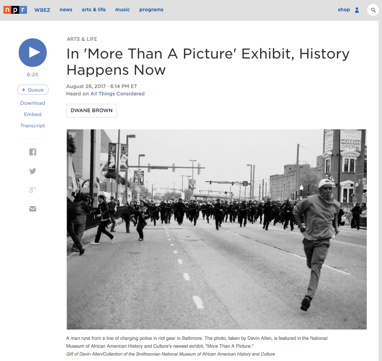 http://www.npr.org/2017/08/26/544686950/in-more-than-a-picture-exhibit-history-happens-now